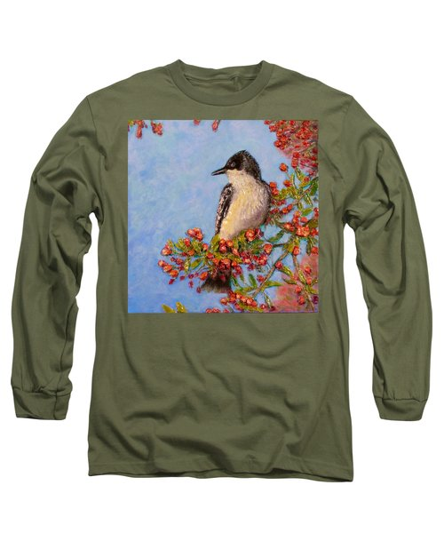 Long Sleeve T-Shirt featuring the painting Northern King Bird  by Joe Bergholm