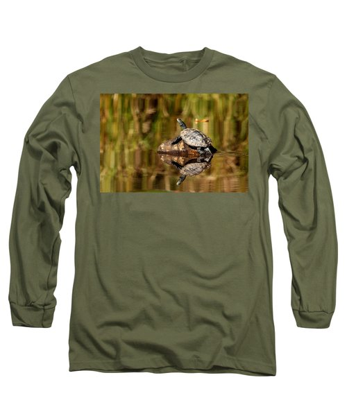 Long Sleeve T-Shirt featuring the photograph Northern Map Turtle by Debbie Oppermann