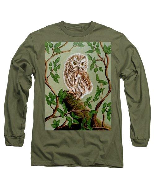 Northern Saw-whet Owl Long Sleeve T-Shirt
