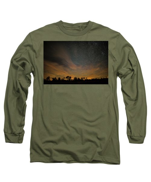Northern Sky At Night Long Sleeve T-Shirt by Phil Abrams