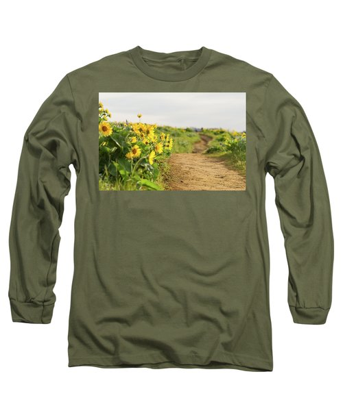 Northwest Balsamroot On Mosier Plateau Long Sleeve T-Shirt