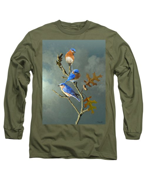 Nothing But Bluebirds Long Sleeve T-Shirt