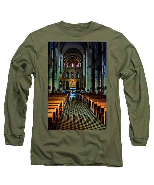 Long Sleeve T-Shirt featuring the photograph Notre Dame Cathedral Saigon by Joseph Hollingsworth