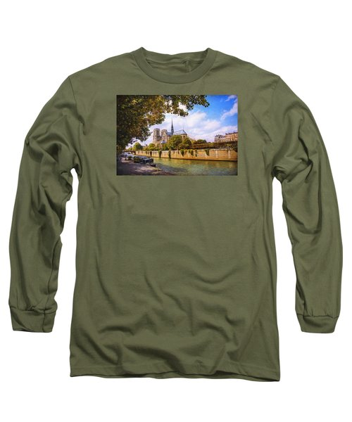 Long Sleeve T-Shirt featuring the photograph Notre Dame by John Rivera
