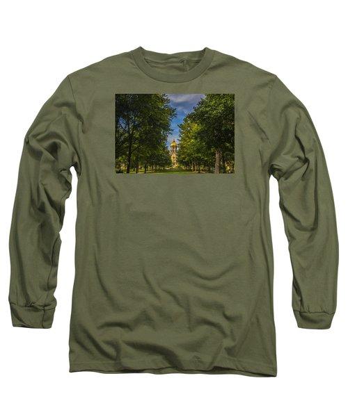 Notre Dame University 2 Long Sleeve T-Shirt by David Haskett