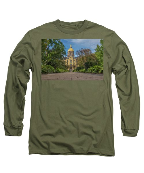 Long Sleeve T-Shirt featuring the photograph Notre Dame University Q by David Haskett
