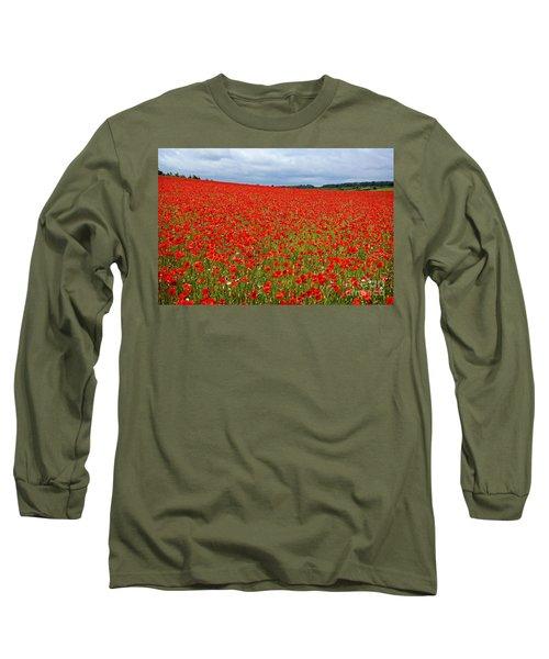 Nottinghamshire Poppy Field Long Sleeve T-Shirt