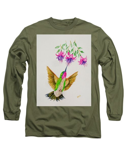 Long Sleeve T-Shirt featuring the painting Nourishment  by Katherine Young-Beck