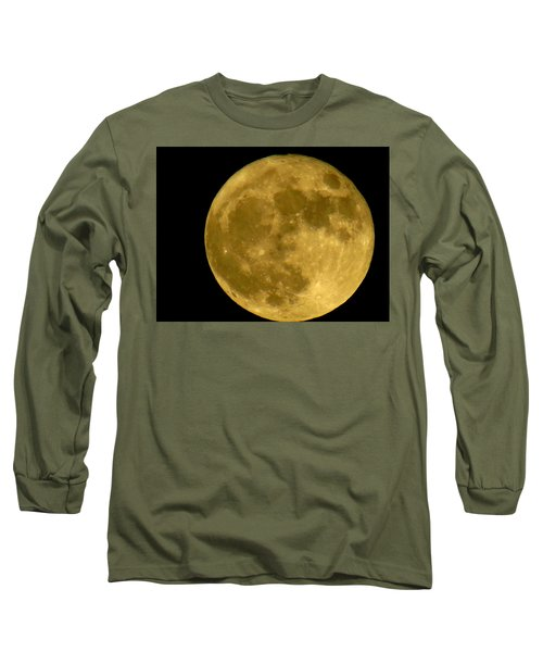 Long Sleeve T-Shirt featuring the photograph November Full Moon by Eric Switzer