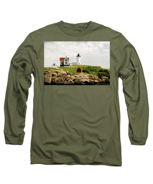Nubble Light House  Long Sleeve T-Shirt by Betty Pauwels