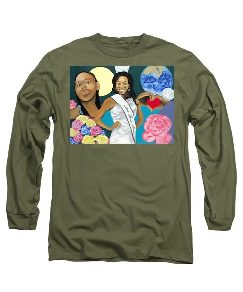 Nubian Princess Long Sleeve T-Shirt by Angelo Thomas