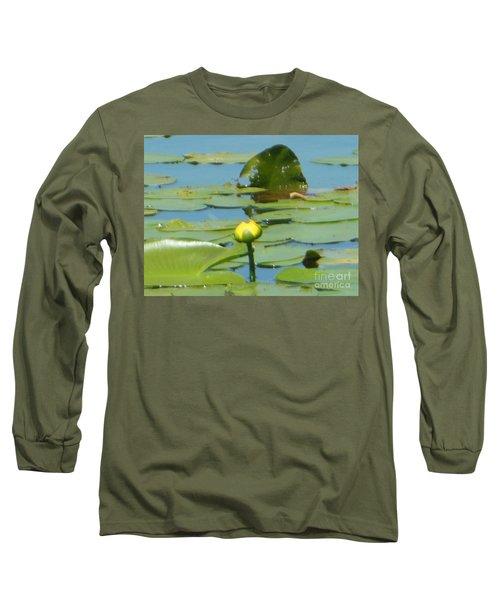 Nuphar Lutea Yellow Pond Long Sleeve T-Shirt
