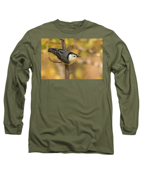 Nuthatch In Fall Long Sleeve T-Shirt