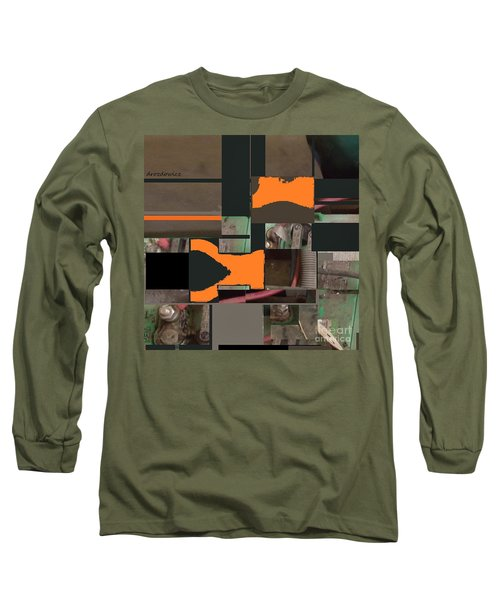 Long Sleeve T-Shirt featuring the mixed media Nuts And Bolts by Andrew Drozdowicz