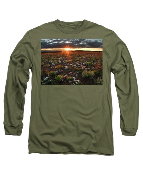 Long Sleeve T-Shirt featuring the photograph Nuttalls Linanthastrum by Leland D Howard