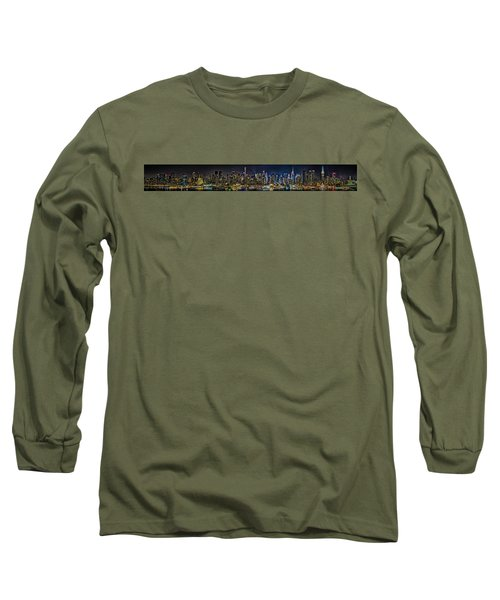 Long Sleeve T-Shirt featuring the photograph NYC by Theodore Jones