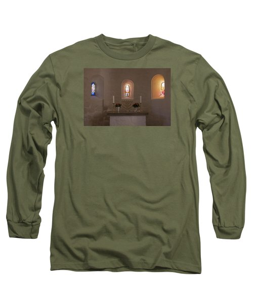 Long Sleeve T-Shirt featuring the photograph Nyker Round Church Altar by Inge Riis McDonald