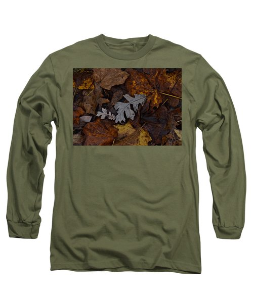Oak And Maple Leaves Long Sleeve T-Shirt by Tim Good