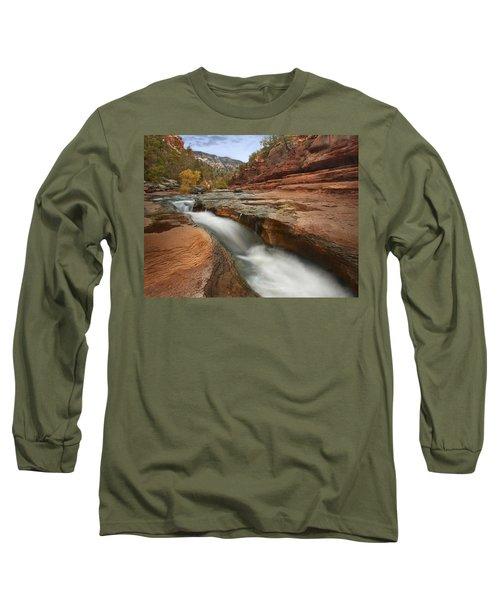 Oak Creek In Slide Rock State Park Long Sleeve T-Shirt