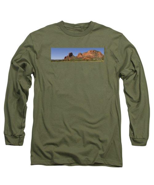 Oak Creek Panorama In Red Long Sleeve T-Shirt