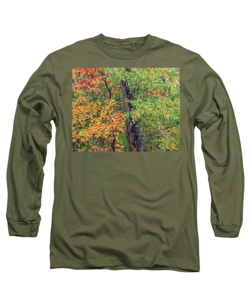 Oak Hickory Woodland Long Sleeve T-Shirt by Tim Fitzharris