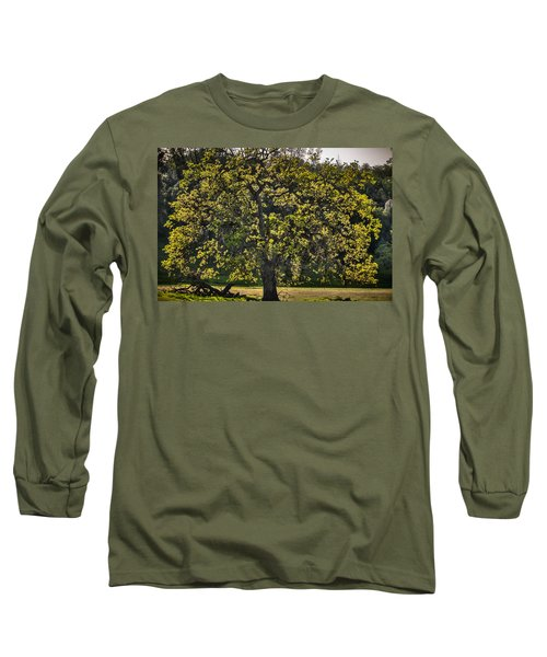 Oak Tree New Green Leaves Long Sleeve T-Shirt
