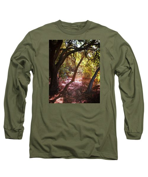 Long Sleeve T-Shirt featuring the photograph Oaken Woodland 2 by Timothy Bulone
