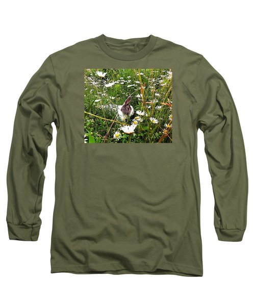 Long Sleeve T-Shirt featuring the photograph Obelix And Daisies  by Vicky Tarcau