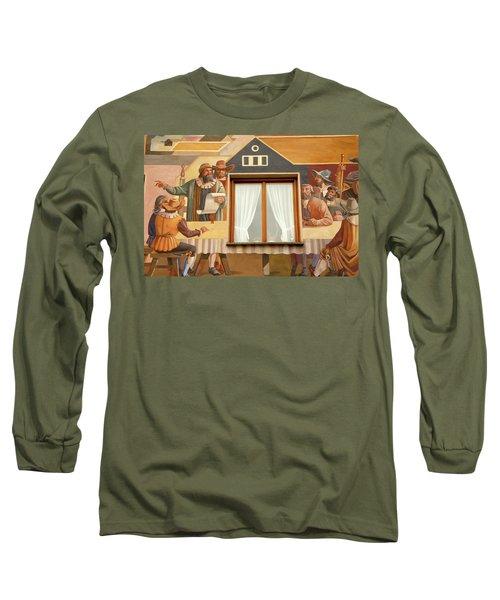 Long Sleeve T-Shirt featuring the photograph Oberammergau Frescoe by KG Thienemann