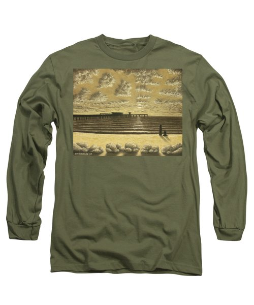 Ocean Beach Pier Sunset 01 Long Sleeve T-Shirt