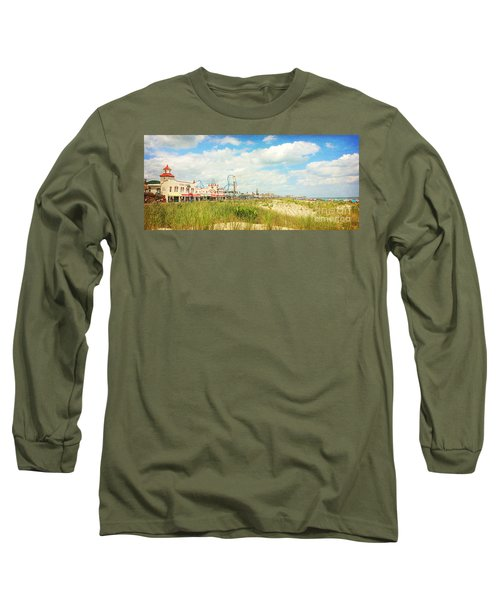 Ocean City Boardwalk Music Pier And Beach Long Sleeve T-Shirt