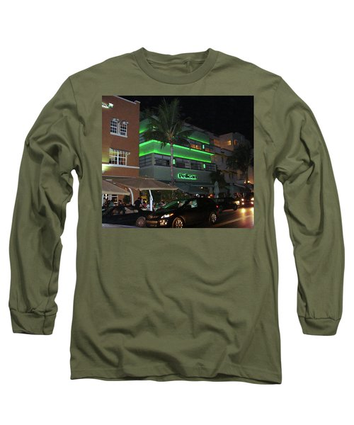 Ocean Drive Miami Beach Long Sleeve T-Shirt