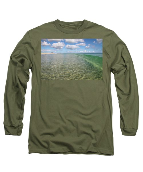 Ocean Waves And Clouds Rollin' By Long Sleeve T-Shirt