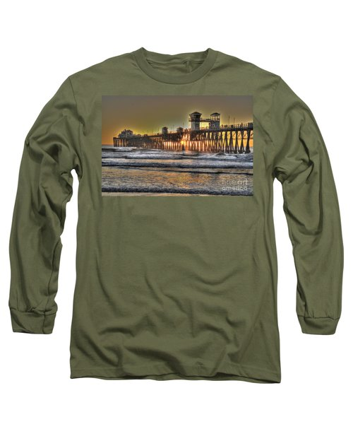 Oceanside Pier Hdr  Long Sleeve T-Shirt