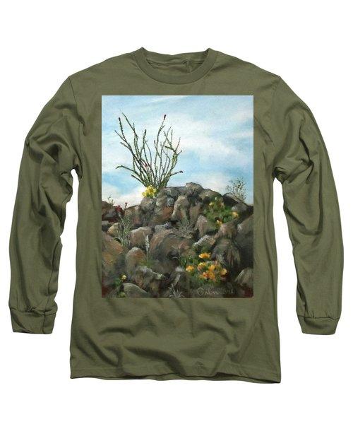 Ocotillo In Bloom Long Sleeve T-Shirt