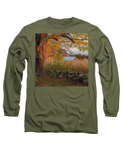 Long Sleeve T-Shirt featuring the photograph October Morning 2016 Square by Bill Wakeley