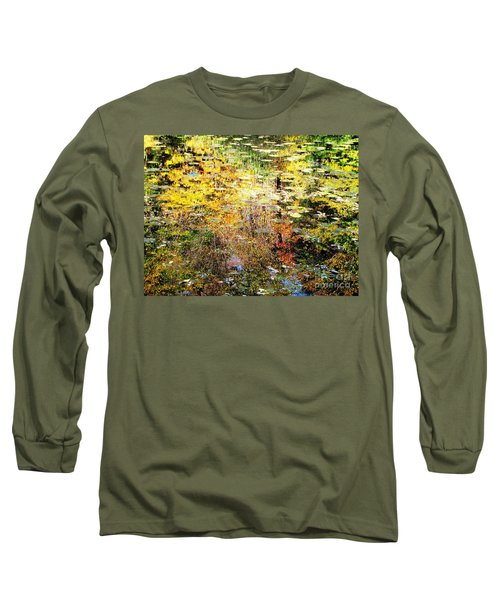 October Pond Long Sleeve T-Shirt by Melissa Stoudt