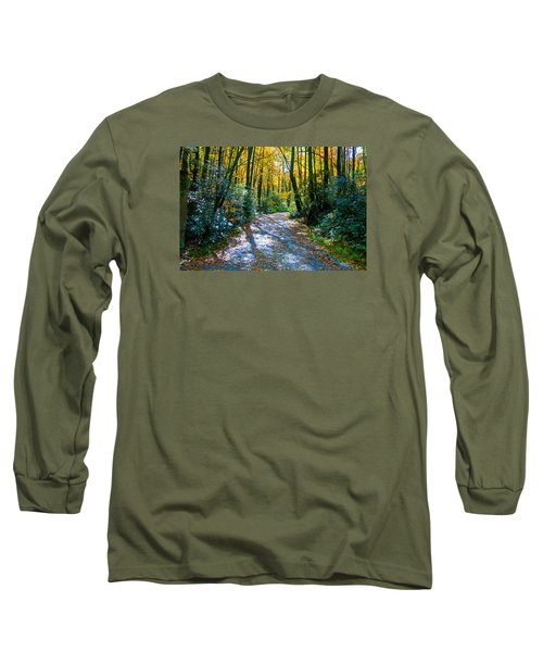 Long Sleeve T-Shirt featuring the photograph October's Path by Allen Carroll