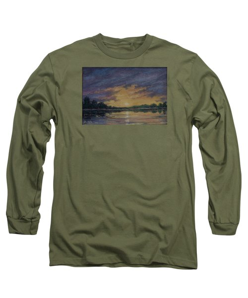 Offshore Sunset Sketch Long Sleeve T-Shirt