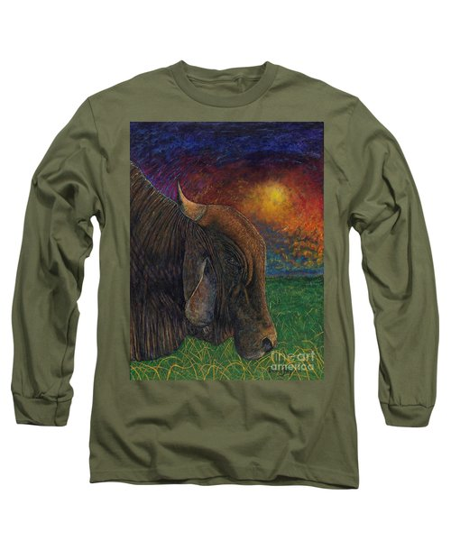 Okeechobee Brahman Long Sleeve T-Shirt by David Joyner