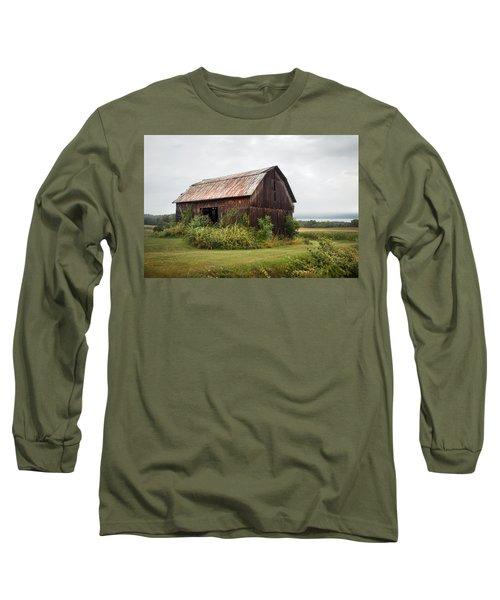 Old Barn On Seneca Lake - Finger Lakes - New York State Long Sleeve T-Shirt