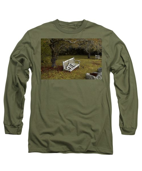 Old Benches Long Sleeve T-Shirt by Alex Galkin