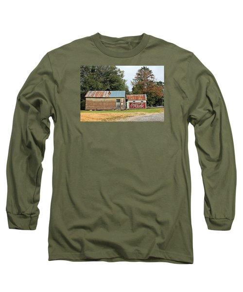 Old Buildings At Burnt Corn Long Sleeve T-Shirt by Lynn Jordan