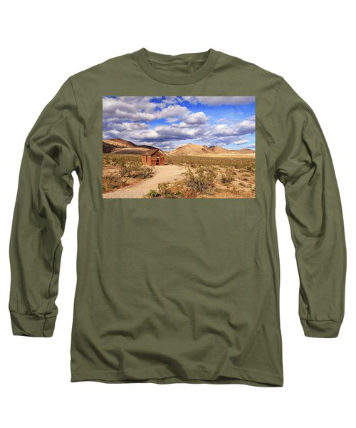 Long Sleeve T-Shirt featuring the photograph Old Cabin At Rhyolite by James Eddy