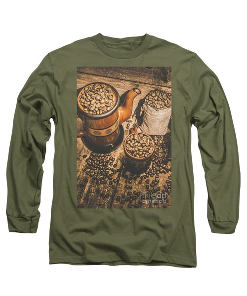 Old Coffee Brew House Beans Long Sleeve T-Shirt