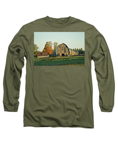 Old Country Barn_9302 Long Sleeve T-Shirt by Michael Peychich