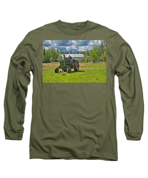 Old Farmer Old Tractor Old Dog Long Sleeve T-Shirt