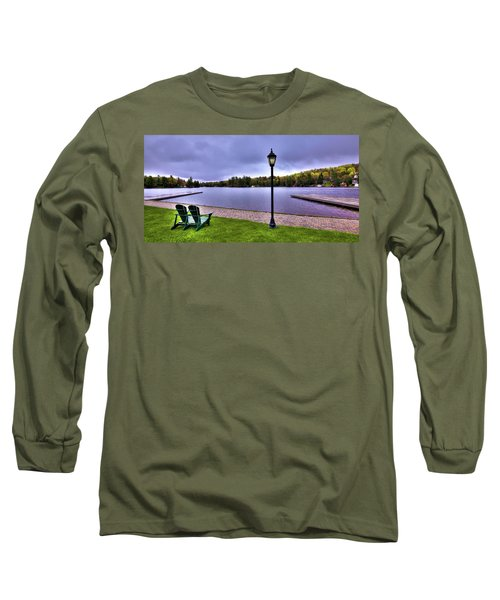 Old Forge Waterfront Long Sleeve T-Shirt by David Patterson