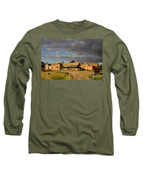 Old Ghan Railway Restaurant Long Sleeve T-Shirt by Douglas Barnard