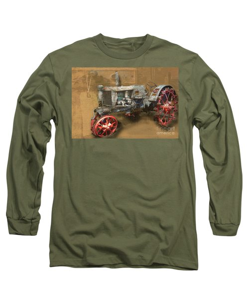 Old Grey Tractor Long Sleeve T-Shirt